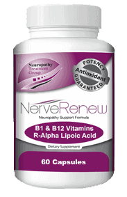 A bottle of the best neuropathy supplement for nerve regeneration