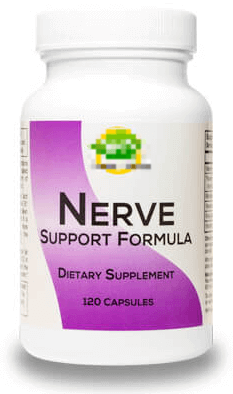 Bottle of Nerve Support Formula by a company called Real Health Products