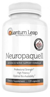 A single bottle of Neuropaquell nerve pain supplement