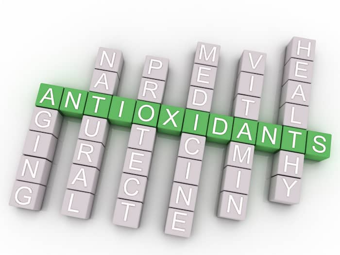 3d image Antioxidants issues concept word cloud background