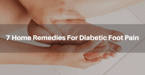 Natural home remedies for diabetic foot pain