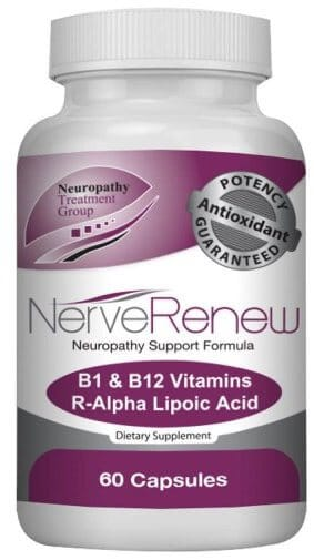 A single 60 capsule bottle of Nerve Renew by Life Renew