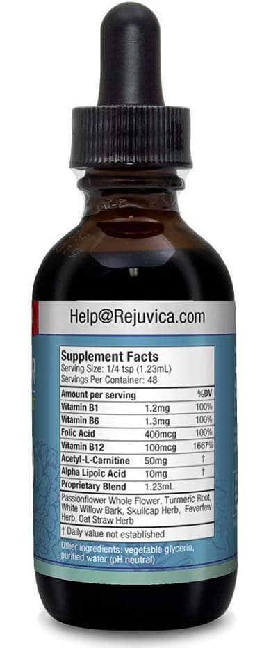Nerve Factor Supplement Facts Label